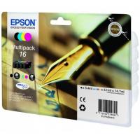 Комплект картриджей оригинальный (Multipack) Epson T1626 (Bl, C, M, Y), объем 5,4 мл. черный, 3,1 мл. цвет.