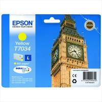 Картридж оригинальный желтый (yellow) Epson T7034 / C13T70344010, ресурс 800 стр.