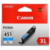 Картридж оригинальный (увеличенного объема) голубой (cyan) Canon CLI-451XL C, ресурс 680 стр.