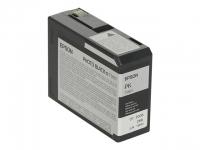 Картридж оригинальный фото-черный (photo black) Epson T5801 / C13T580100, емкость 80 мл.