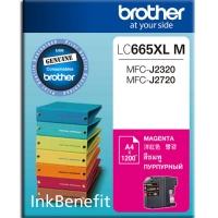 Картридж оригинальный Brother LC-665XL-M (увеличенный объем), ресурс 1200 стр.