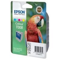 Картридж оригинальный (в технологической упаковке) цветной Epson T008 color, ресурс 220 стр.