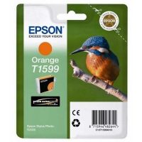 Картридж оригинальный (блистер) оранжевый (orange) Epson T1599 / C13T15994010, объем 17 мл.