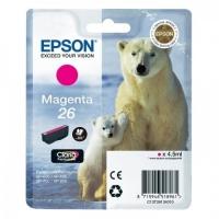 Картридж оригинальный пурпурный Epson T2613 Magenta (C13T26134010), ресурс 300 стр.