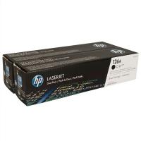 Картридж оригинальный черный (black) (двойная упаковка) HP CE310AD / CE310A x 2 (126A / 126А), ресурс 2 x 1200 стр.