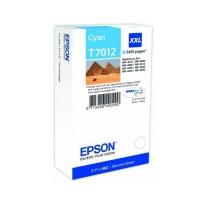 Картридж оригинальный голубой (cyan) Epson T7012 XXL / C13T701240, ресурс 3400 стр.