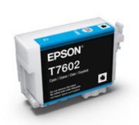 Картридж оригинальный (в технологической упаковке) Epson T7602 SС P-600 Cyan