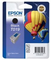 Картридж оригинальный (в технологической упаковке) черный Epson T019 black, ресурс 900 стр.