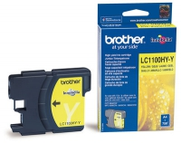 Картридж оригинальный желтый (yellow) (увеличенной емкости) Brother LC-1100HYY, ресурс 750 стр.