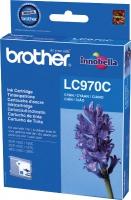 Картридж оригинальный голубой (cyan) Brother LC-970C, ресурс 300 стр.