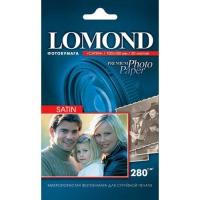 Lomond  1104206 (Satin Warm) -Сатин-односторонняя  Атласная тепло-белая A6 (10*15) 280g/m, 500 лист