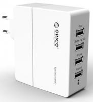 Зарядное устройство Orico DCA-4U (белый)