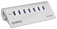 USB-концентратор Orico M3H7-SV (серебристый)