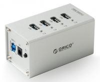 USB-концентратор Orico A3H4 (серебристый)