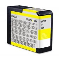 Картридж оригинальный желтый (yellow) Epson T5804 /C13T580400, емкость 80 мл.
