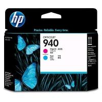 Картридж оригинальный (головки печатающие) пурпурный + голубой HP C4901A  (№940) Magenta + Cyan Printhead