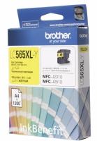 Картридж оригинальный желтый (yellow) Brother LC-565XL-Y, ресурс 1200 стр.