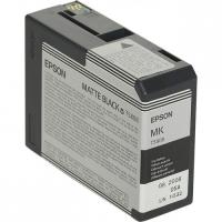 Картридж оригинальный матовый черный (matt black) Epson T5808 /C13T580700, емкость 80 мл.