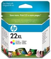 Картридж оригинальный (увеличенного объема) цветной HP C9352CE (№ 22XL) Color, ресурс 415 стр.