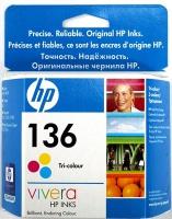 Картридж оригинальный цветной HP C9361HE (№136) Color, объем 5 мл.