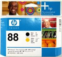 Комплект HP C9381AE желтой и черной печатающих головок №88.(Yellow + Black Printhead)