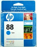 Картридж оригинальный голубой (cyan) HP C9386AE (№88), ресурс 860 стр.