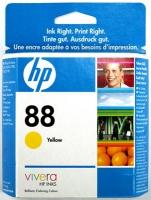 Картридж оригинальный желтый (yellow) HP C9388AE (№88), ресурс 860 стр.
