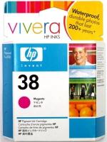 Картридж оригинальный пурпурный (magenta) HP C9416A (№38), ресурс 840 стр.