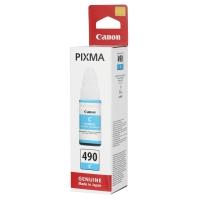 Картридж оригинальный Canon GI-490C голубой, 70 мл.