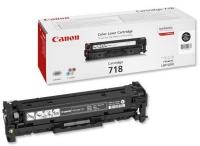 Картридж оригинальный черный (black) Canon Cartridge 718Bk,  ресурс 3400 стр.