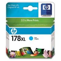 Картридж оригинальный (увеличенного объема) голубой (cyan) HP CB323HE  №178XL, ресурс 750 стр.