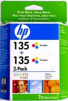 Картридж оригинальный цветной HP CB332HE (C8766HE (№ 135) Color (двойная упаковка), ресурс 2 х 260 стр.