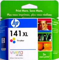Картридж оригинальный цветной (увеличенного объема) HP CB338HE (№141XL) Color, ресурс 580 стр.