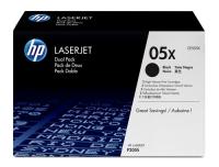 Картридж оригинальный (двойная упаковка) HP CE505XD / CE505X / 05X, ресурс 2 x 6500 стр.