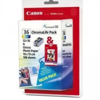 Картридж оригинальный цветной Canon CLI-36 Color + бумага GP-501(A6)