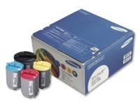 Набор картриджей оригинальный Samsung CLP-P300 (4 цвета CMYK), ресурс: голубой/пурпурный/желтый - 1000 стр. (каждый); черный - 2000 стр.