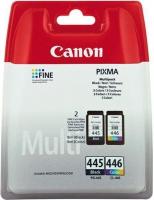 Комплект картриджей оригинальный (черный и цветной) Canon PG-445 / CL-446 Multipack Black & Color