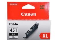 Картридж оригинальный (увеличенного объема) черный (black) Canon CLI-451XL BK, ресурс 1130 стр.