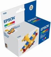 Картридж оригинальный (в технологической упаковке) цветной Еpson T039 color, ресурс 180 стр.