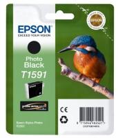Картридж оригинальный (в технологической упаковке) черный фото (photo black) Epson T1591 / C13T15914010, объем 17 мл.