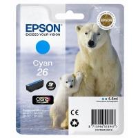 Картридж оригинальный (в технологической упаковке) голубой (cyan) Epson T2632 (C13T26324010), объем 9,7 мл.