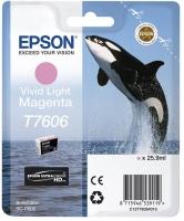 Картридж оригинальный светло-пурпурный Epson T7606, объем 25,9 мл.