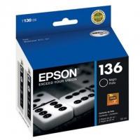 Комплект из 2-х картриджей оригинальный Epson T1361 / C13T13614A10,  объем 2*25,4 мл.
