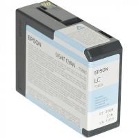 Картридж оригинальный светло-голубой (light cyan) Epson T5805 / C13T580500 , емкость 80 мл.