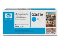 Картридж оригинальный голубой (cyan) HP Q2671A, ресурс 4000 стр.