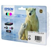 Комплект картриджей оригинальный (Multipack) Epson 2636 (26XL) (Bl, C, M, Y), объем 12,2 мл. черный, 9,7 мл. цвет.