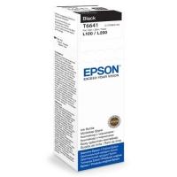 Контейнер оригинальный (в технологической упаковке) с черными чернилами (black) Epson C13T66414A / T6641, объем 70 мл.