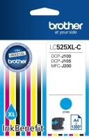 Картридж оригинальный голубой (cyan) Brother LC525XL-C, ресурс 1300 стр.