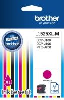 Картридж оригинальный пурпурный (magenta) Brother LC525XL-M, ресурс 1300 стр.