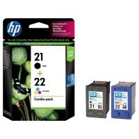 Комбинированная упаковка оригинальных картриджей (черный и цветной) HP DJ C9351AE+C9352AE N21